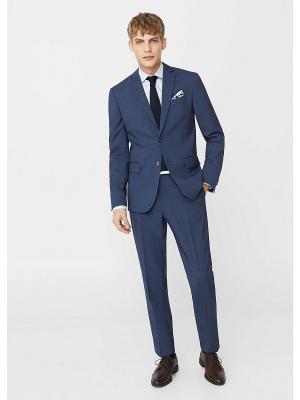 Пиджак - BRASILIA MANGO MAN. Цвет: синий