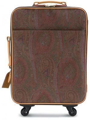 Портфель с принтом пейсли Etro. Цвет: коричневый