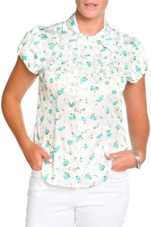 Блуза LOLA PALTINGER. Цвет: бирюзовый
