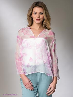 Блузка COMPAGNIA ITALIANA. Цвет: сиреневый, белый