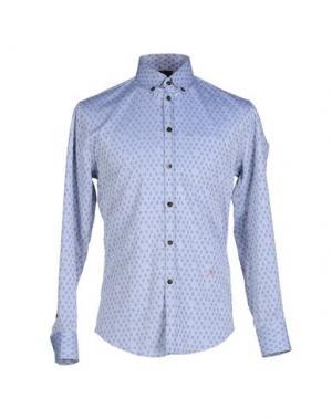 Pубашка (+) PEOPLE. Цвет: пастельно-синий