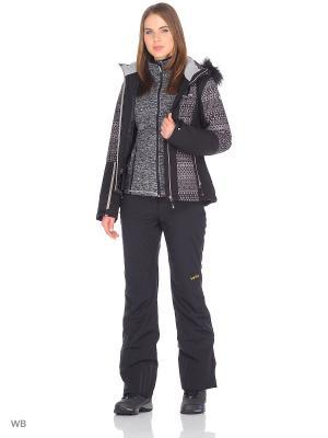 Куртка Icepeak. Цвет: черный, светло-коричневый