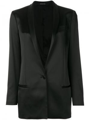 Атласный пиджак Tagliatore. Цвет: чёрный