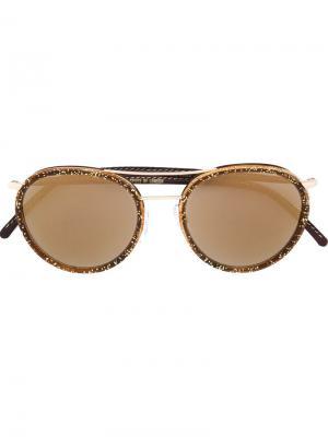 Солнцезащитные очки M1085 Glitter Turtle Cutler & Gross. Цвет: коричневый