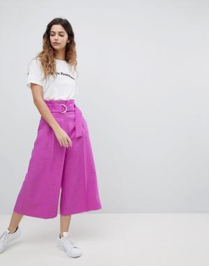 ASOS Фиолетовые кюлоты Tailored. Цвет: фиолетовый