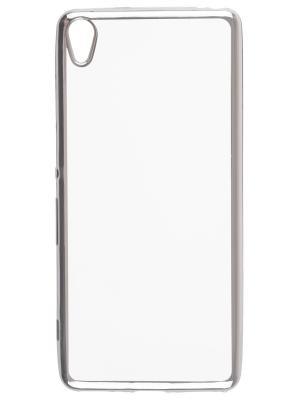 Накладка  skinBOX silicone chrome border 4People для Sony Xperia XA.. Цвет: серебристый
