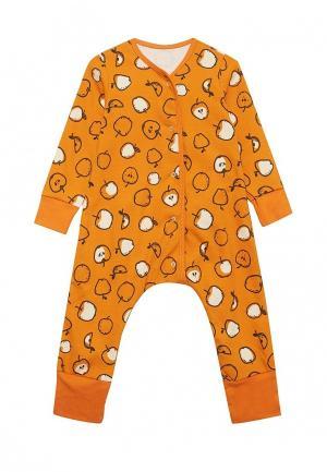 Пижама Bambinizon. Цвет: оранжевый