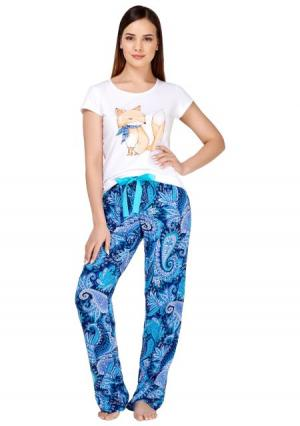 Пижама с брюками Infinity Lingerie. Цвет: с рисунком (набивка)