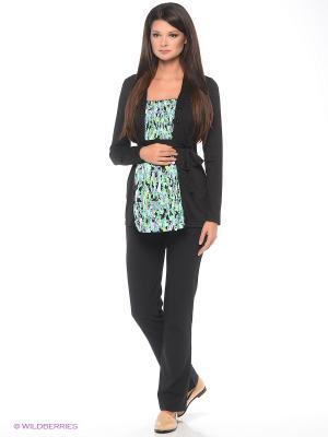 Блузка для беременных 40 недель. Цвет: бирюзовый, черный