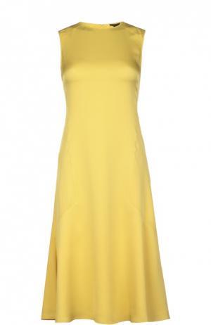 Платье Theory. Цвет: желтый