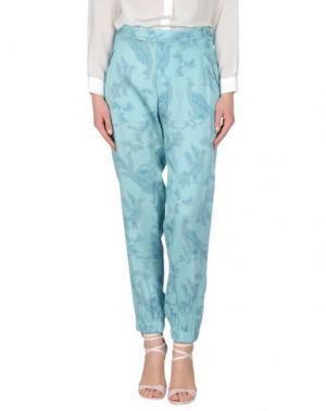 Повседневные брюки BAJA EAST. Цвет: бирюзовый