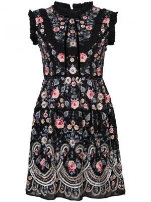 Расклешенное платье Whisper Needle & Thread. Цвет: чёрный