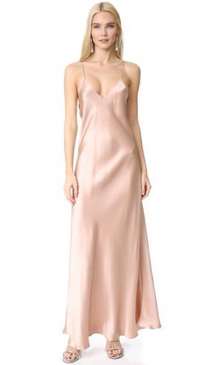 Платье-комбинация Allen Alix. Цвет: шампанское