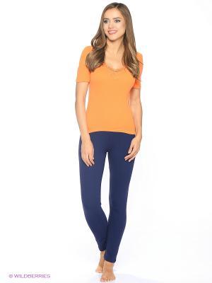 Футболка женская Comazo. Цвет: светло-оранжевый