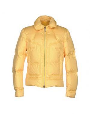 Пуховик BIKKEMBERGS. Цвет: желтый