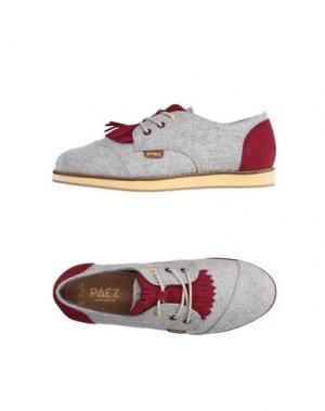 Обувь на шнурках PAEZ. Цвет: серый