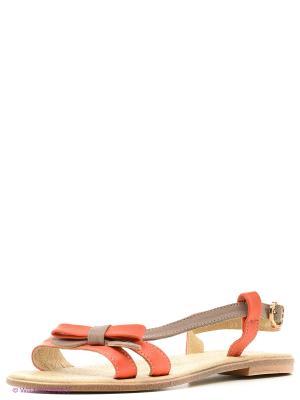 Сандалии Walrus. Цвет: оранжевый, коричневый