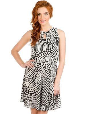 Платье VENUSITA. Цвет: черный, бежевый
