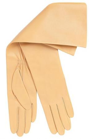 Перчатки Michel Katana. Цвет: соломенный