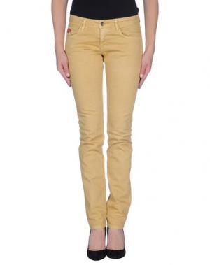 Джинсовые брюки UNLIMITED. Цвет: желтый