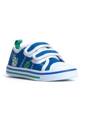 Кеды PlayToday. Цвет: голубой, белый, зеленый