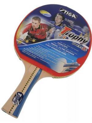 Ракетка для настольного тенниса TROPHY OVERSIZE ITTF (1793-01) Stiga. Цвет: красный