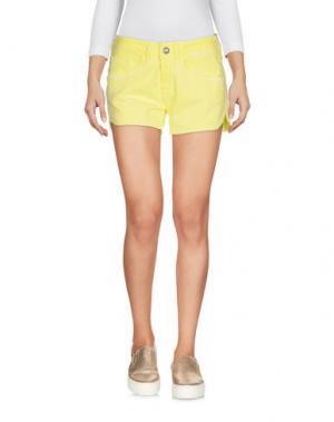 Джинсовые шорты FORNARINA. Цвет: желтый