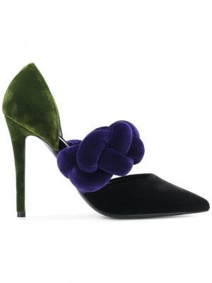 Контрастные туфли-лодочки Marco De Vincenzo. Цвет: многоцветный