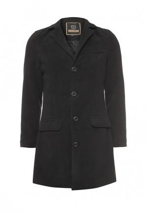 Пальто утепленное Justboy. Цвет: черный