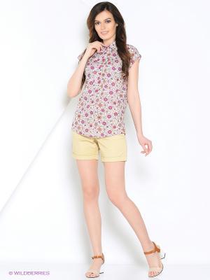 Блуза PRIZZARO. Цвет: белый, рыжий, малиновый