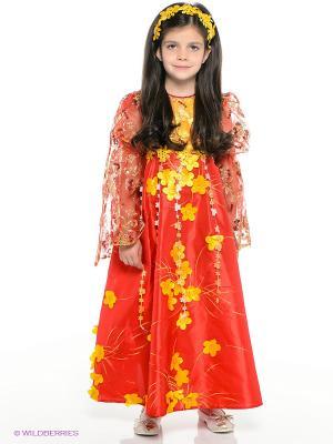 Карнавальный костюм Лето Красное Батик. Цвет: красный