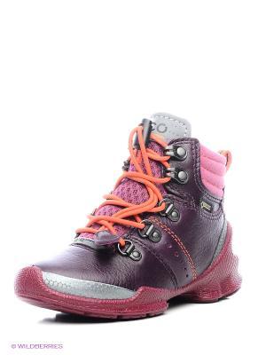 Ботинки ECCO. Цвет: бордовый