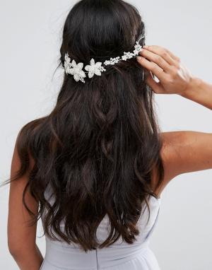 Johnny Loves Rosie Украшение для волос со стразами Bridal Range. Цвет: серебряный