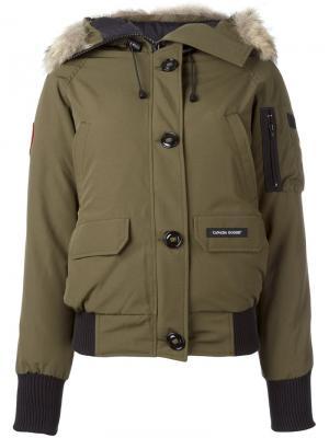 Куртка-пуховик Chilliwack Canada Goose. Цвет: зелёный