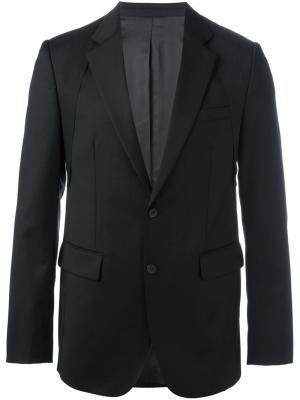 Пиджак на две пуговицы D.Gnak. Цвет: чёрный