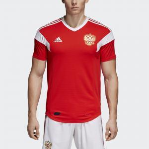 Домашняя игровая футболка сборной России Authentic  Performance adidas. Цвет: красный