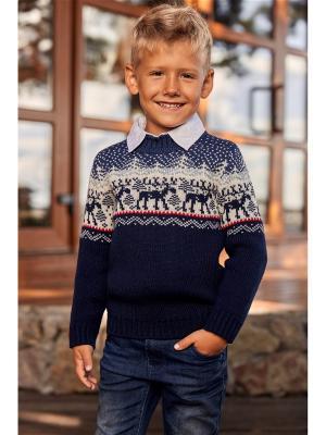Джемпер детский Scandica. Цвет: темно-синий