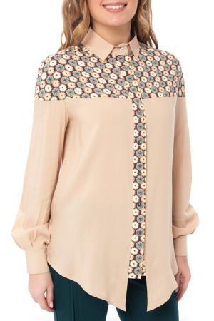 Рубашка Gloss. Цвет: бежевый
