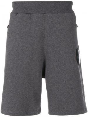 Спортивные шорты Ron Plein Sport. Цвет: серый