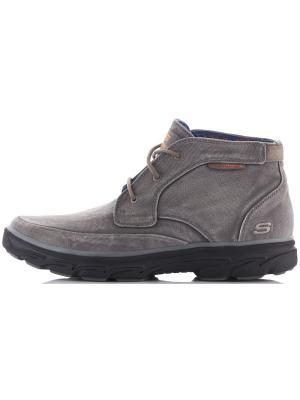 Ботинки SKECHERS. Цвет: оливковый