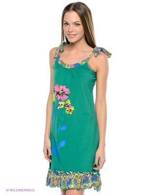 Сорочка Vienetta Secret. Цвет: зеленый, розовый
