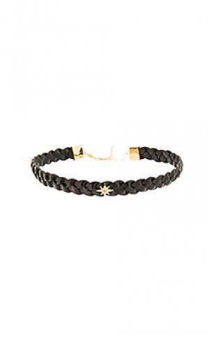 Starburst braided choker Jacquie Aiche. Цвет: черный