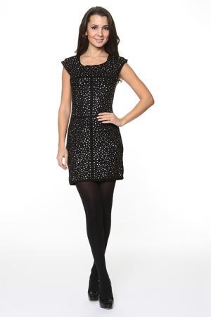 Укороченное платье с декором Piamente. Цвет: черный