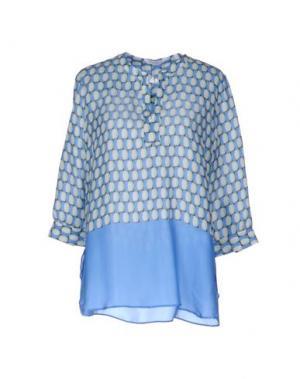 Блузка GUGLIELMINOTTI. Цвет: лазурный