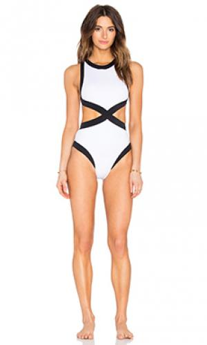 Слитный купальник kerry OYE Swimwear. Цвет: black & white