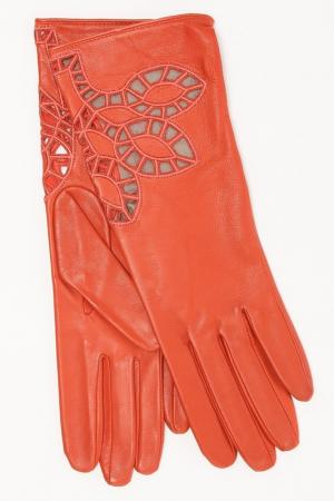 Перчатки Eleganzza. Цвет: коралловый