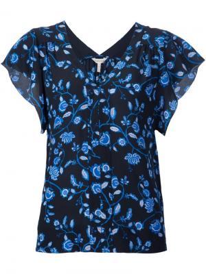 Блузка с V-образным вырезом Rebecca Taylor. Цвет: чёрный