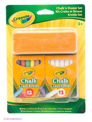Набор белых и цветных мелков Crayola. Цвет: белый