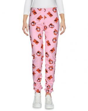 Повседневные брюки AU JOUR LE. Цвет: розовый