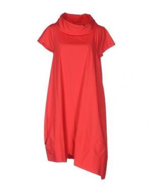 Платье до колена OBLIQUE CREATIONS. Цвет: красный